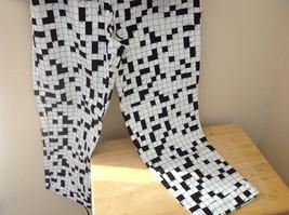 Cats Pajamas Flannel Pajama Set w Crossword Pattern & Eye Mask S or L choice image 3