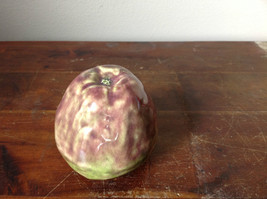 Ceramic Handcrafted Artisan Green and Purple Apple Glazed Decoration image 6