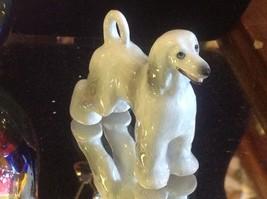 Ceramic miniature dog Afghan hound standing regally image 6