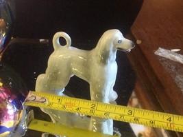 Ceramic miniature dog Afghan hound standing regally image 9