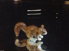 Ceramic miniature brown squirrel running with fluffy tail image 7