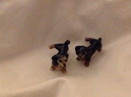 Ceramic miniature dog black dachshund dog lifting his leg to pee choice of face image 3