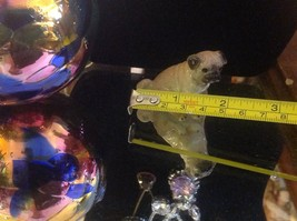 Ceramic miniature dog cute pug sitting down resting image 9