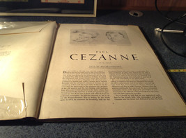 Cezanne 16 Beautiful Full Color Prints Book 1952 Good Condition image 2