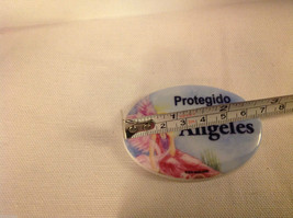 Ceramic porcelain magnet Spanish Protegido por  Angeles Protected by Angels image 2