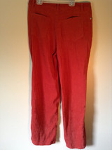 Chadwicks Red Long Pants Four Pockets Zipper and Snap Closure Size 12 image 2