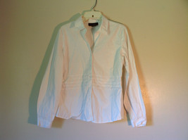 Chadwicks Collection Size Large White Button Up Stretch Long Sleeve Shirt image 2