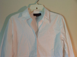 Chadwicks Collection Size Large White Button Up Stretch Long Sleeve Shirt image 3