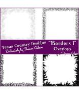 Digital Scrapbooking Borders 1 Page Overlays - $4.00