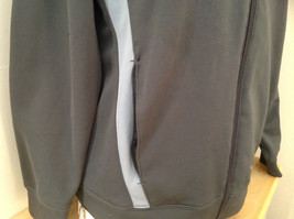 Champion Gray Zip Up Track Jacket Heather Gray Stripes Made in Jordon Size XL image 4