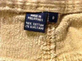 Chaps Womans Tan Corduroy Pants image 9