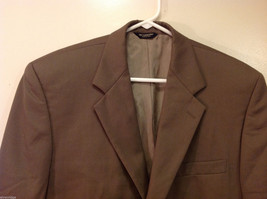 Chaps Two Buttons Brown wit Gray Hue 100% Wool Suit Jacket, Size 40R image 3