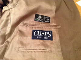Chaps Two Buttons Brown wit Gray Hue 100% Wool Suit Jacket, Size 40R image 8