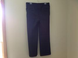 Charcoal Gray Blue Pin Striped 4 Pocket Pleated Pants Belt Loops No Name Tag image 7
