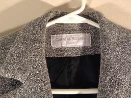Chantal Rosner France Gray Suit Jacket 2 Front Faux Pockets 2 Button Closure image 2