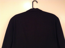 Chaps Black Size 42R Fully Lined Suit Jacket Blazer Two Button Closure image 5