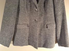 Chantal Rosner France Gray Suit Jacket 2 Front Faux Pockets 2 Button Closure image 3