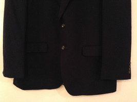 Chaps Black Size 42R Fully Lined Suit Jacket Blazer Two Button Closure image 4