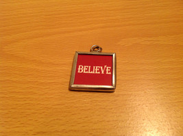 Charm Present Tie On Versatile Reversible Tag Metal Glass Tag Santa and Believe image 2