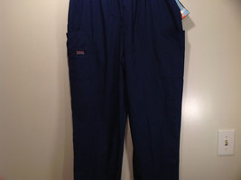Cherokee Workwear Dark Blue Uniform Work Pants Stretchy Waist Size L NEW image 4