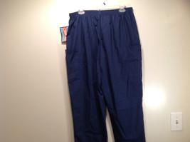 Cherokee Workwear Dark Blue Uniform Work Pants Stretchy Waist Size L NEW image 6