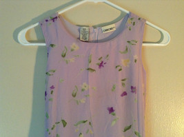 Cherokee Light Purple with Flowers Sleeveless Dress Perfect for Summer Size M8 image 2