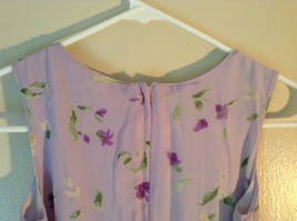 Cherokee Light Purple with Flowers Sleeveless Dress Perfect for Summer Size M8 image 8