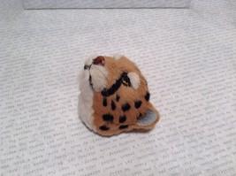 Cheetah Head Mini Refrigerator Magnet Recycled Rabbit Fur image 2