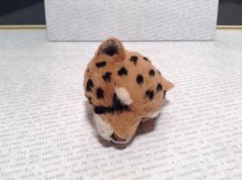 Cheetah Head Mini Refrigerator Magnet Recycled Rabbit Fur image 3