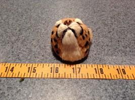 Cheetah Head Mini Refrigerator Magnet Recycled Rabbit Fur image 8