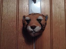 Cheetah Head Mini Refrigerator Magnet Recycled Rabbit Fur image 4