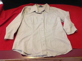 Chelsey & Jack blouse 3/4 sleeve women's light colored textured size small image 2