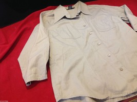 Chelsey & Jack blouse 3/4 sleeve women's light colored textured size small image 3
