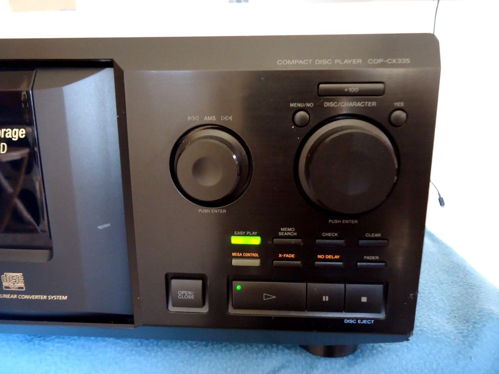 Sony cdp cx335 compact disc player mega and 21 similar items sony cdp cx335 compact disc player mega storage 300 cdssee video altavistaventures Image collections