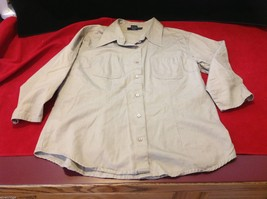 Chelsey & Jack blouse 3/4 sleeve women's light colored textured size small image 8