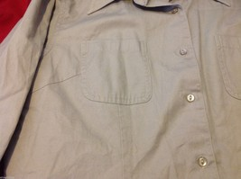 Chelsey & Jack blouse 3/4 sleeve women's light colored textured size small image 5