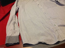 Chico's Size 2 Long Sleeve blouse with stripes in blue white accents image 3