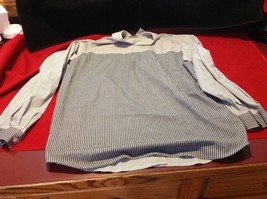 Chico's Size 2 Long Sleeve blouse with stripes in blue white accents image 10