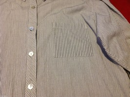 Chico's Size 2 Long Sleeve blouse with stripes in blue white accents image 6