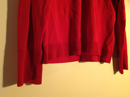 Chico's Red V-Neckline Long Sleeve Sweater Very Soft Material Size 1 image 3