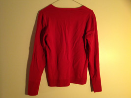 Chico's Red V-Neckline Long Sleeve Sweater Very Soft Material Size 1 image 5