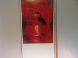Chinese Traditional Wall Scroll Crane and Red Sunset 100 Percent Wood Pulp image 3