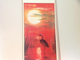 Chinese Traditional Wall Scroll Crane and Red Sunset 100 Percent Wood Pulp image 2