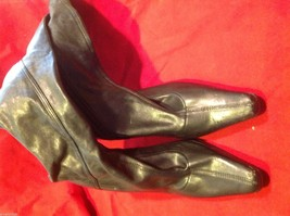 Chinese Laundry leather knee high dress boots size 8 1/2 8.5 with heels image 9