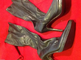 Chinese Laundry leather knee high dress boots size 8 1/2 8.5 with heels image 8