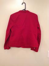 Christopher and Banks Red Long Sleeve Jacket Blazer Front Pockets Size Large image 5