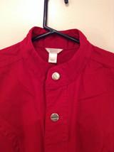 Christopher and Banks Red Long Sleeve Jacket Blazer Front Pockets Size Large image 4
