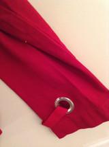 Christopher and Banks Red Long Sleeve Jacket Blazer Front Pockets Size Large image 6