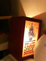 "Christmas Decor Lighted Box ""Peace Joy Noel"" image 2"