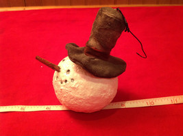 Christmas Ornament Snowman Head with Top Hat image 2